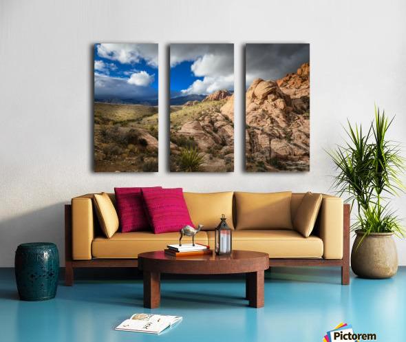 Red Rock Canyon Split Canvas print