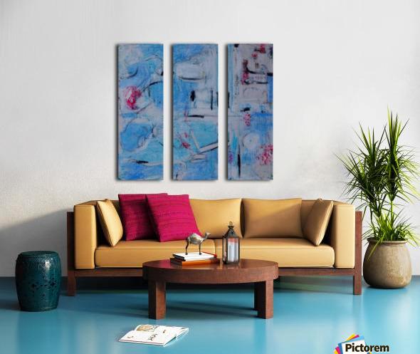 twombly blue Split Canvas print