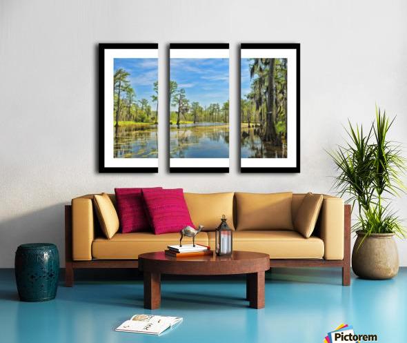 Down on the Bayou - HDR - White Border  - Black Border Split Canvas print