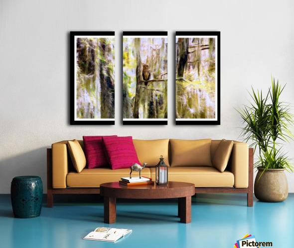 Mystical Swamp - Georgia Okeffe Effect - White and Black  Borders Split Canvas print