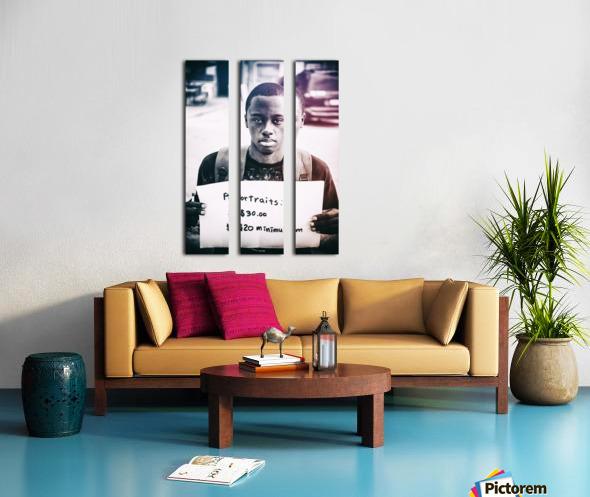 Portraits Split Canvas print