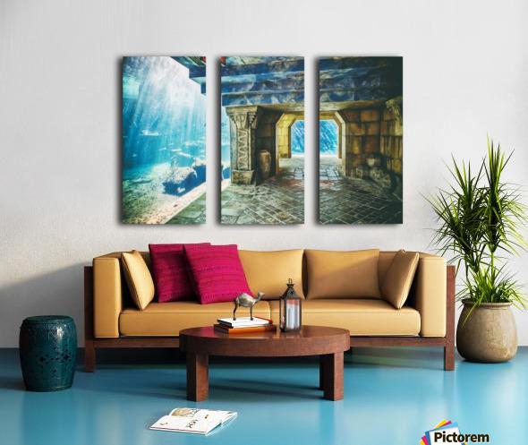 Atlantis Aquarium  Split Canvas print
