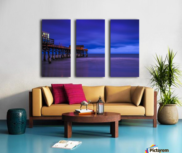 Pier at Dawn Split Canvas print