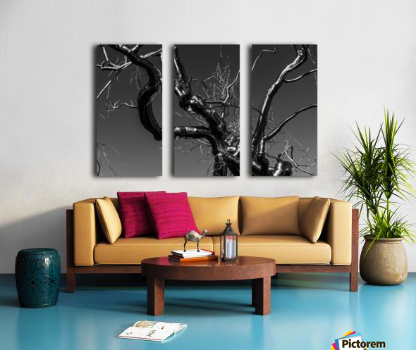 Metal tree Split Canvas print