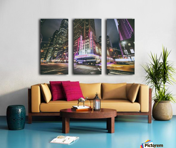Radio City Split Canvas print