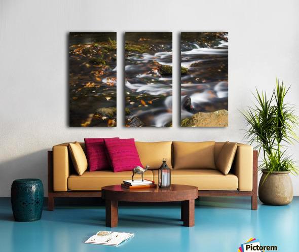 River Flow in Smokey Mountains Split Canvas print