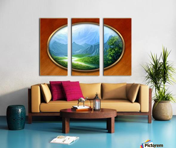 Landscape12 Split Canvas print
