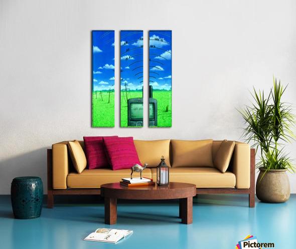 Wireless Split Canvas print