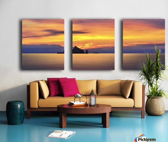 Olympic Sunset 2 Split Canvas print