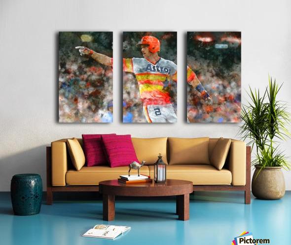 ALEX BREGMAN Water Color Print - Houston Astros print  Split Canvas print