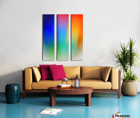 Aura Split Canvas print