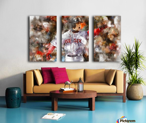 ANDREW BENINTENDI Water Color Print - Boston Red Sox Print Split Canvas print