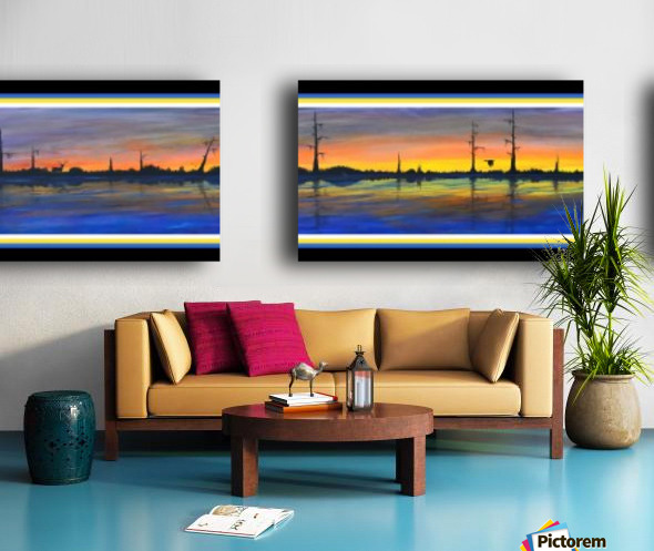 WINTER MARSH  II - ORIGINAL ACRYLIC Split Canvas print