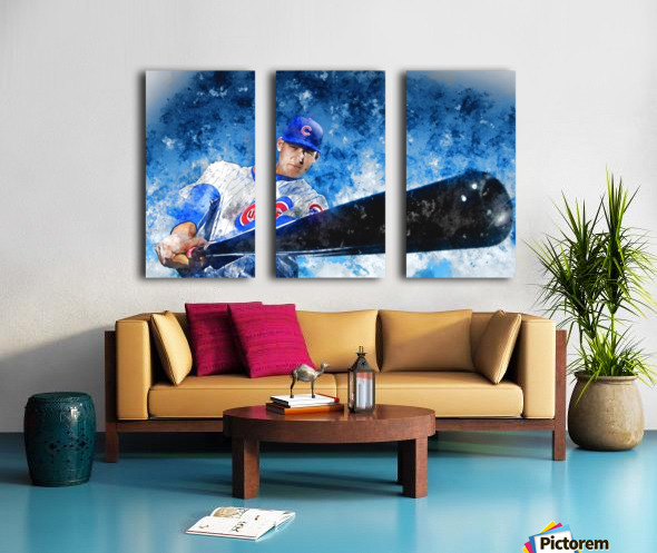 ANTHONY RIZZO Water Color Print - Chicago Cubs Print Split Canvas print