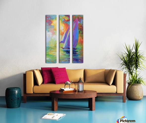 Sailboat Split Canvas print