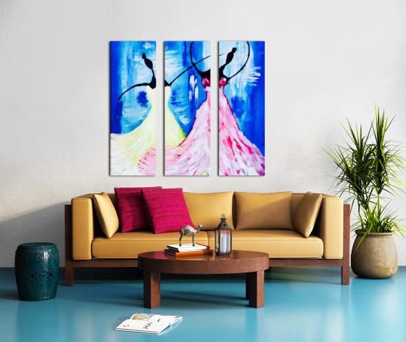 lets Dance  Split Canvas print