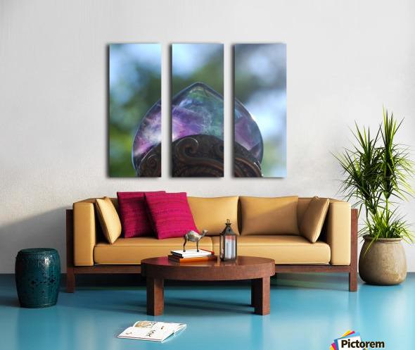 fluorite  Split Canvas print