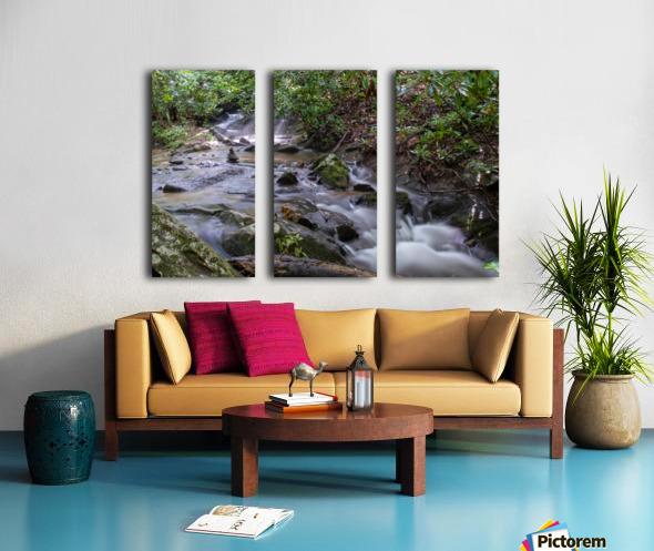 Zen Stones Split Canvas print