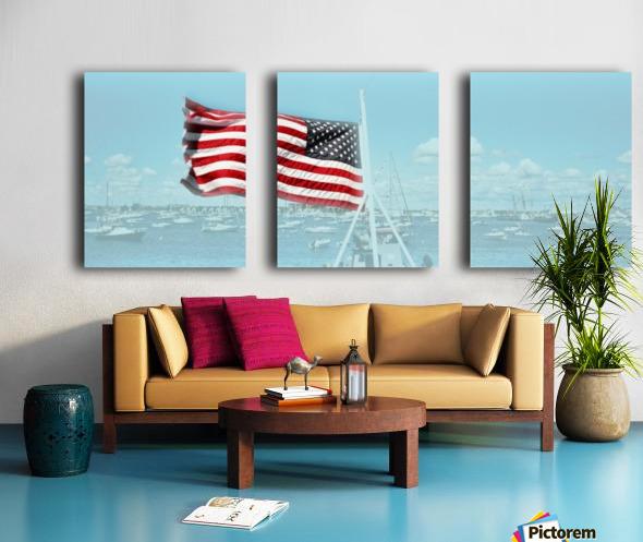 Old Glory Newport Harbor Rhode Island Split Canvas print