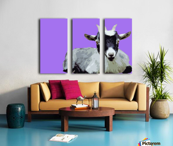 Goat popart purple Split Canvas print