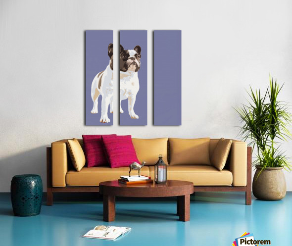 French Bulldog Pop art Split Canvas print