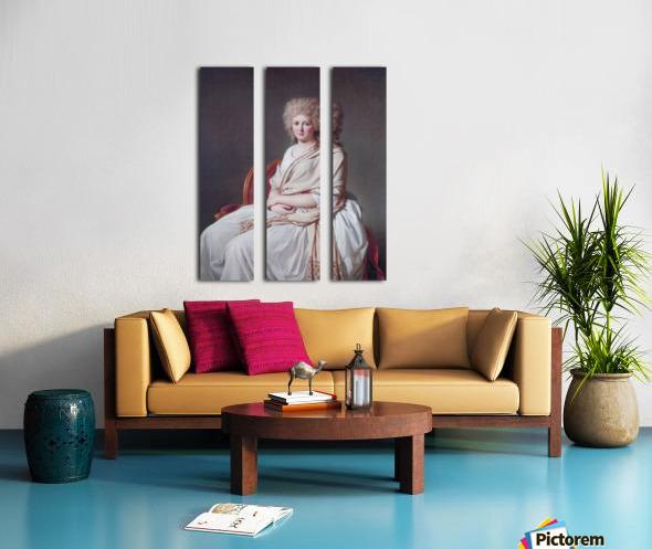 Portrait of Anne Marie Split Canvas print