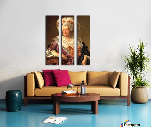 Portrait of Genevieve Jacqueline Pecoul Split Canvas print