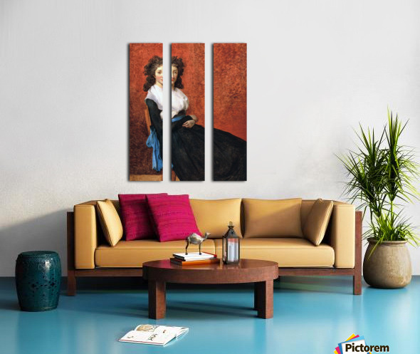 Portrait of madame charles louis trudaine 1792 Split Canvas print