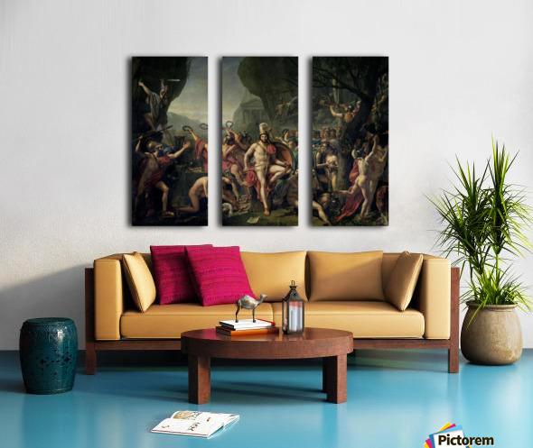 Leonidas at Thermopylae Split Canvas print
