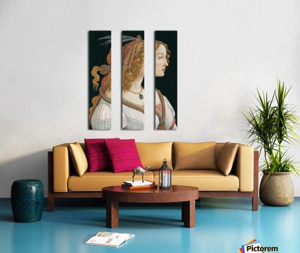 Portrait of a young woman Split Canvas print