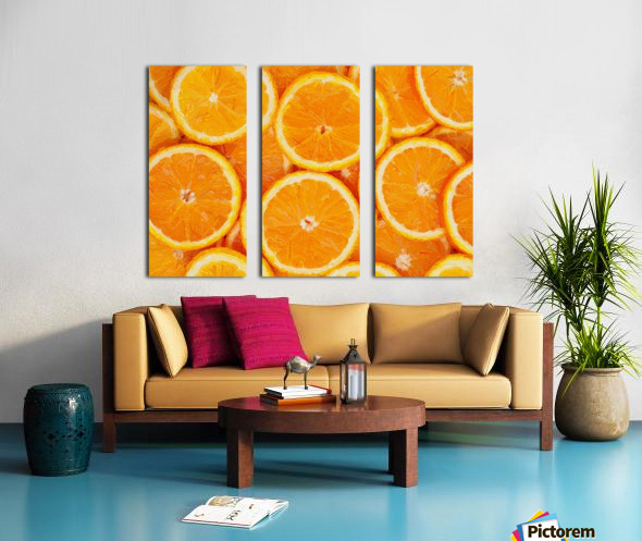 orange Split Canvas print