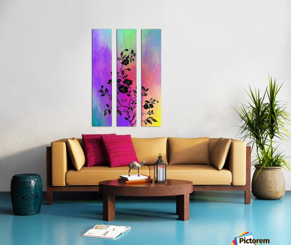 Modern interior design 14 Split Canvas print