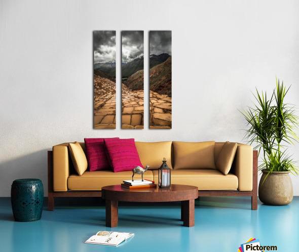 Maras Salt Mines Split Canvas print