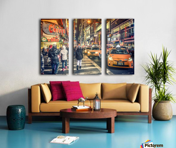 New York City Taxi Mayhem  Split Canvas print