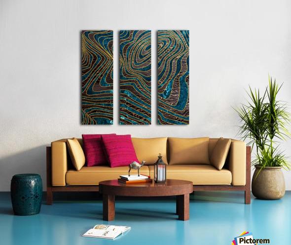 Marble waves Split Canvas print