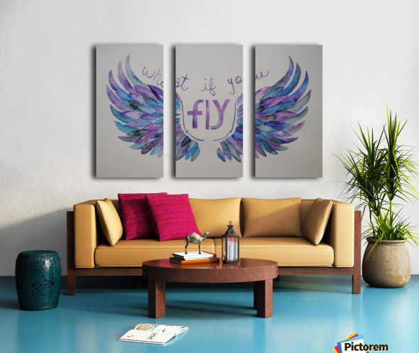 What if you fly  Split Canvas print