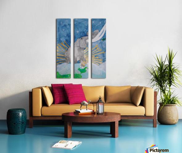 King of the world Split Canvas print