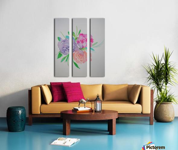 Watery roses Split Canvas print
