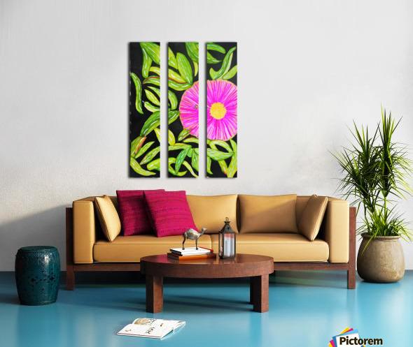 Coastal Flower Split Canvas print