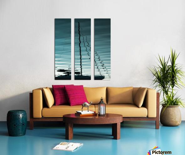 Sailboat Ripples Split Canvas print