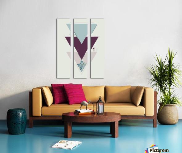 Art deco succulent Split Canvas print