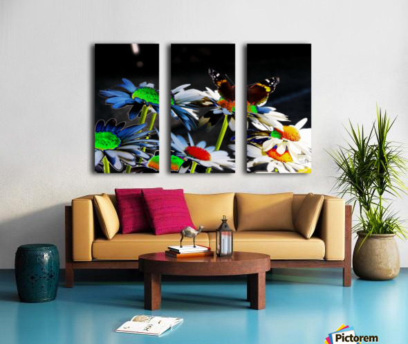Couleurs en nature Split Canvas print