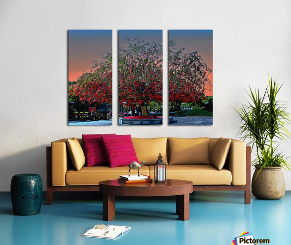 Cloud and Tree Split Canvas print