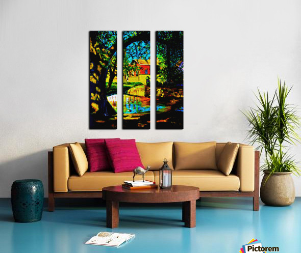 The Lotus Split Canvas print