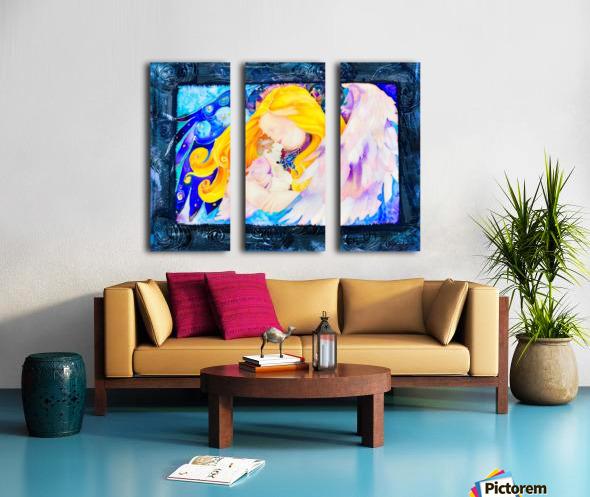 Held full frame Split Canvas print