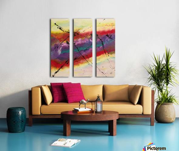 La lumière Split Canvas print