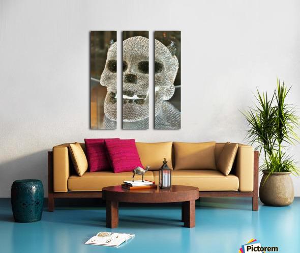 Paris Crystal Skull Split Canvas print