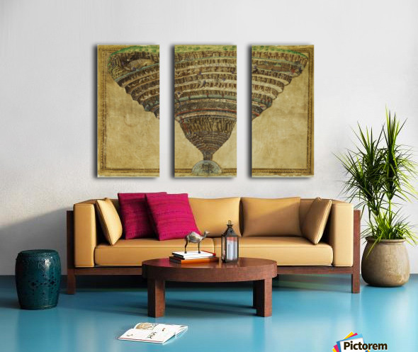 Map of The Inferno Split Canvas print
