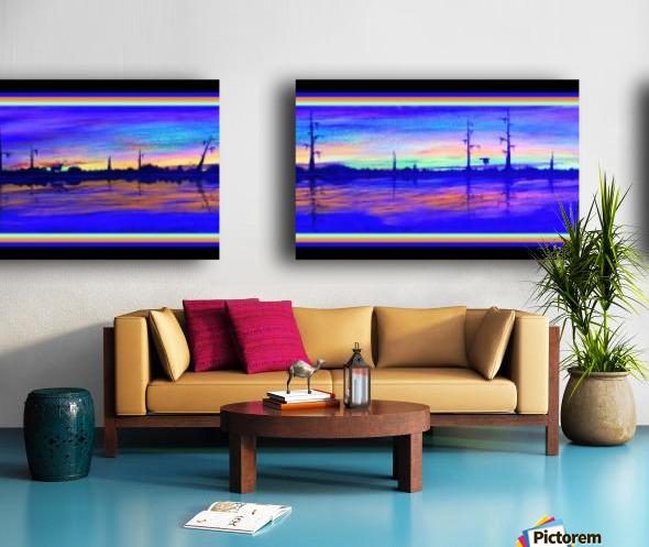WINTER MARSH IV  -  BLACKLIGHT VERSION Split Canvas print