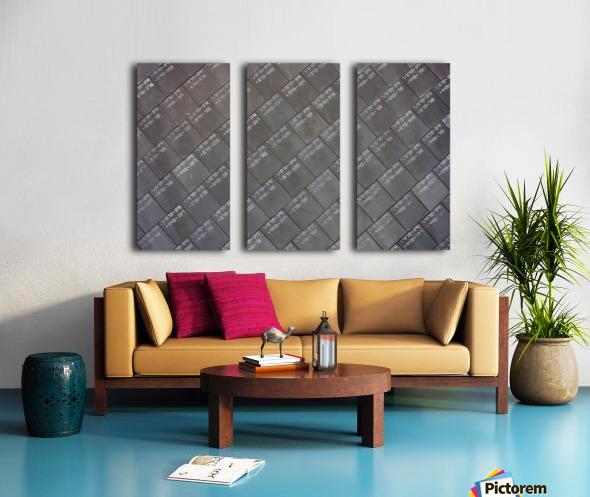 Space Shuttle Tiles Split Canvas print